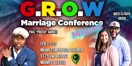 G.R.O.W. Marriage Conference - MIAMI tickets