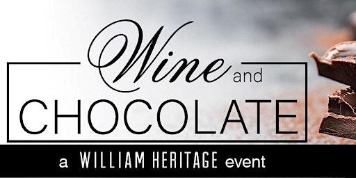 Wine & Chocolate Event - Saturday, February 15, 2020
