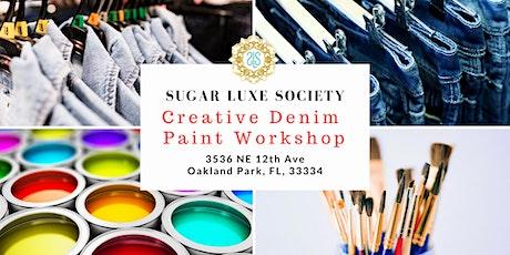 Creative Denim Paint Workshop tickets