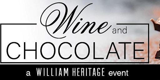 Wine & Chocolate Event - Sunday, February 16, 2020