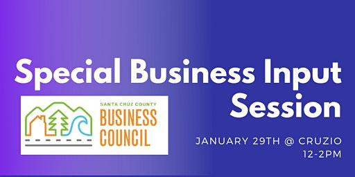 Special Business Input Session
