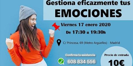 Conferencia: Gestión eficaz de emociones. Confirmación previa tickets