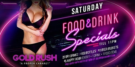 Gold Rush Saturdays at Gold Rush Cabaret Guestlist - 3/14/2020 tickets