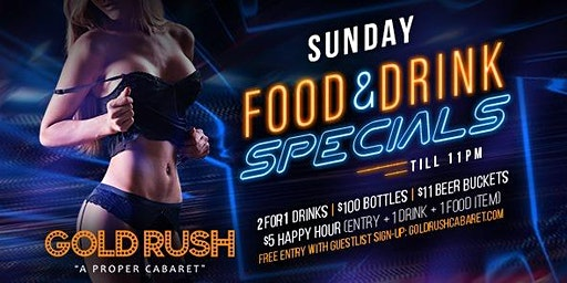 Gold Rush Sundays at Gold Rush Cabaret Guestlist - 3/15/2020