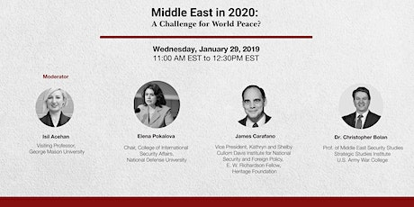 Middle East in 2020: A Challenge for World Peace? tickets