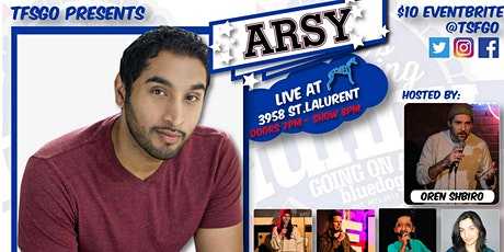 TSFGO Presents: ONE NIGHT ONLY: ARSY LIVE AT BLUE DOG tickets