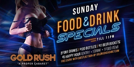 Gold Rush Sundays at Gold Rush Cabaret Guestlist - 3/29/2020 tickets