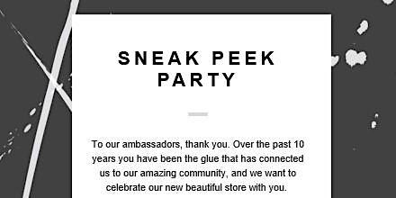 Sneak Peek + Ambassador Photo Reveal Party