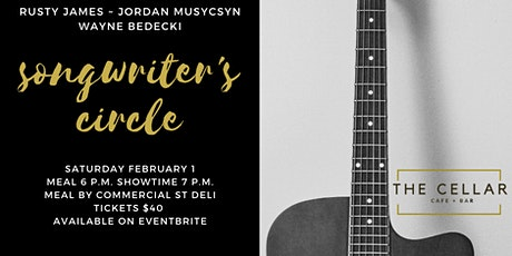 Songwriter's Circle ~ Rusty James, Jordan Musycsyn & Wayne Bedecki tickets