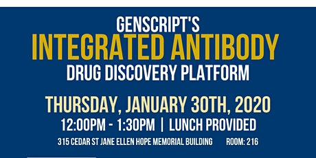 GenScript's Integrated Antibody Drug Discovery Platform, Yale OCR tickets