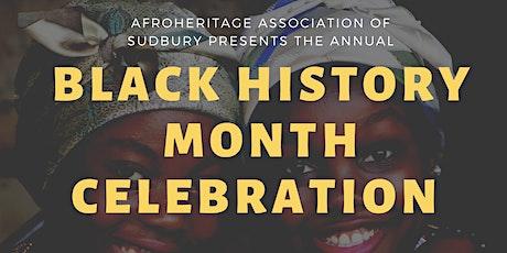 Black History Month February 1-2020 Sudbury, Ontario, Canada Evening Celebration tickets