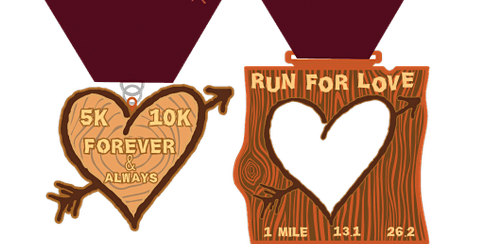 2020 Run 4 Love 1M, 5K, 10K, 13.1, 26.2 -Tulsa