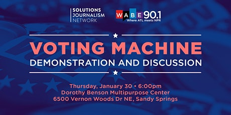 Voting Machine Demonstration and Discussion tickets