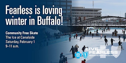 BlueCross BlueShield Fearless February - Free Skate at Canalside