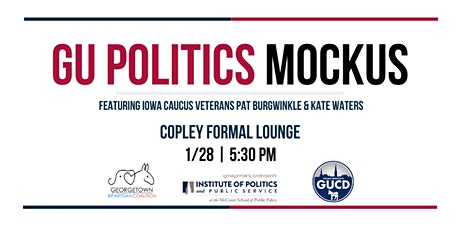 GU Politics Mockus (Mock Caucus) tickets