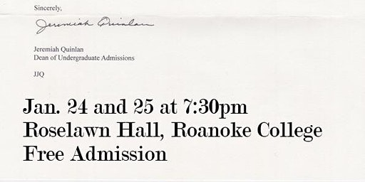 "Theatre Roanoke College staged reading of ""Admissions"" by Joshua Harmon"