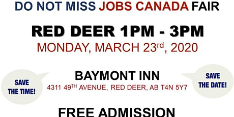 Red Deer Job Fair – March 23rd, 2020 tickets