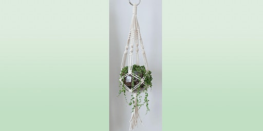 Macramé Hanging Planter: Sip and Craft at Magnanini Winery