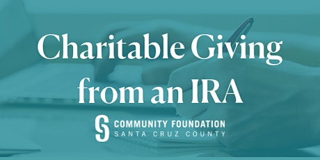 Use Your Required IRA Withdrawal for Charity (and Skip the Taxes!) - August 26, 2020 tickets