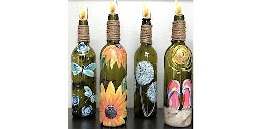 Wine Bottle Tiki Torches  Paint  Art Maker Class