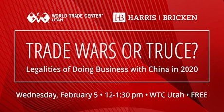 Trade Wars or Truce? Legalities of Doing Business with China in 2020 tickets