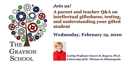 Parent and teacher Q&A with Dr. Karen B. Rogers on intellectual giftedness