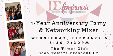 1-Year Anniversary Party & Networking Mixer tickets