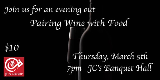 Pairing Wine with Food - Tasting Event
