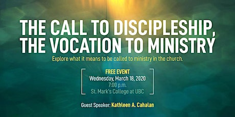 The Call to Discipleship, the Vocation to Ministry tickets