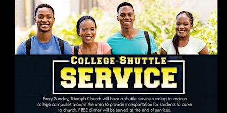 College Shuttle to Triumph Church tickets