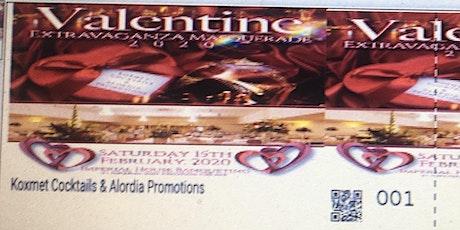 Koxmet Cocktails And Alordia Promotions Valentine Extravaganza Masquerade tickets