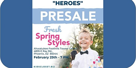 Kid's Closet - Ahwatukee/Chandler - 7pm Pre-sale - Feb. 25th tickets