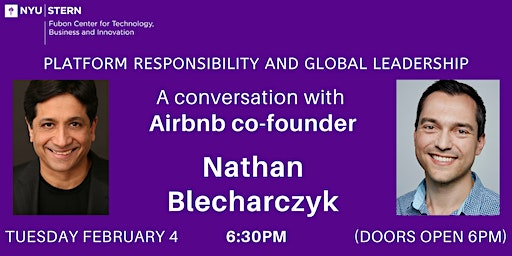 Airbnb co-founder Nate Blecharczyk at NYU Stern