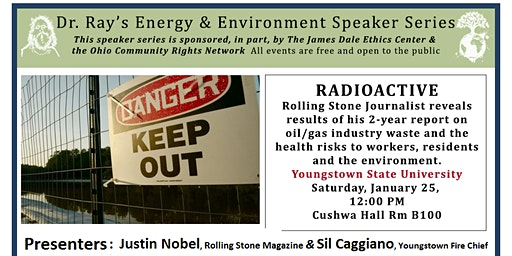 Journalist to Expose Harms of Radioactive Oil/Gas Waste in Youngstown, OH