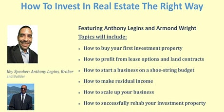 How To Invest In Real Estate The Right Way tickets