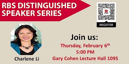 RBS Distinguished Speaker Series Presents: Charlene Li
