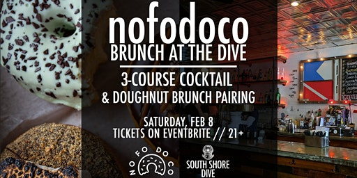 NoFoDoCo x South Shore Dive Brunch Doughnut & Cocktail Pairing