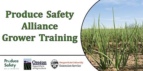 Produce Safety Alliance (PSA) Grower Training tickets