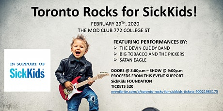 Toronto Rocks for SickKids! tickets