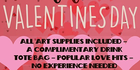 ART N' SIPPING (VALENTINES DAY PAINT PARTY) (19:30-21:30) tickets
