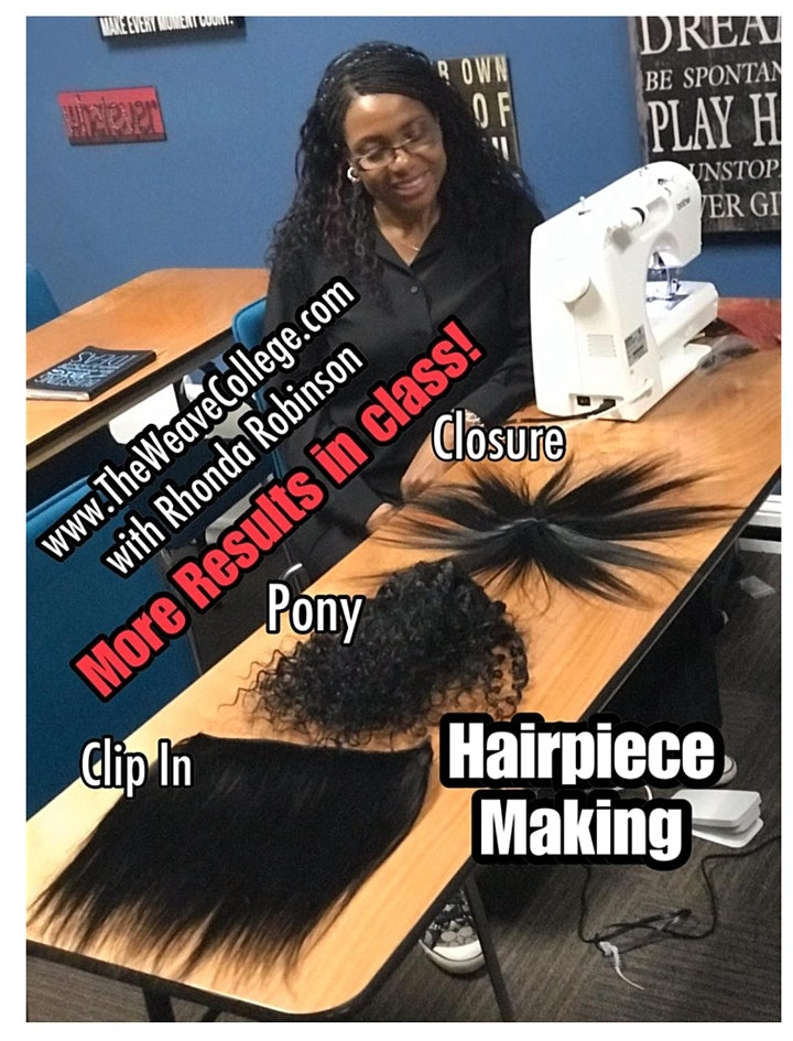 Jacksonville FL | Hairpiece Making Class with Sewing Machine image