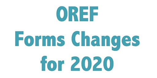 New Changes to OREF Forms