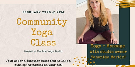 Donation Yoga: Yoga + Massage tickets