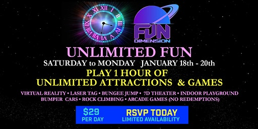 1 HOUR UNLIMITED FUN AT FUNDIMENSION