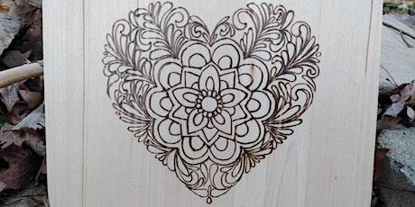Wood Burning Workshop Valentine's Day Heart tickets
