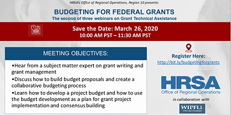 Budgeting Basics for Federal Grants tickets