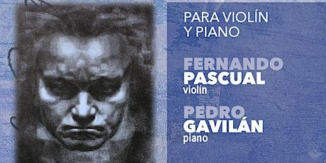 CICLO INTEGRAL SONATAS DE BEETHOVEN I: violín y piano (6 marzo 20:30h) entradas