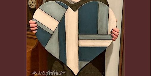 Paint a Heart Using Dixie Belle Paint