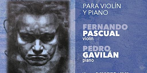 CICLO INTEGRAL SONATAS DE BEETHOVEN II:violín y piano (7 de marzo 20:30h)