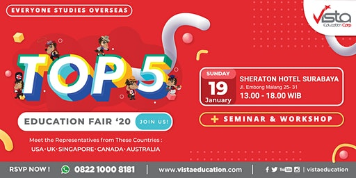 TOP 5 Favorite Countries Education Fair 2020 - Surabaya